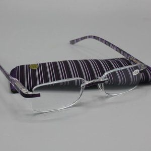 New 3.0 Magnifiers Glasses Purple with Case